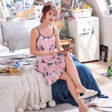库依娜内衣 吊带睡裙女士夏季新款睡裙甜美韩版中长款性感莫代尔吊带睡裙 KYN010