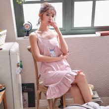 库依娜内衣 2019吊带睡裙女士夏季新款睡裙甜美韩版中长款性感莫代尔吊带睡裙 KYN011