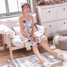 库依娜内衣 2019夏季吊带睡裙女士睡衣莫代尔可爱少女中长款韩版睡裙 KYN006