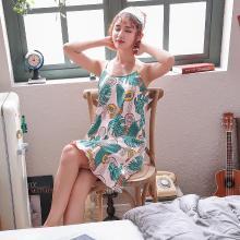 库依娜内衣 女士吊带睡裙夏季新款女士中长款甜美睡裙舒适莫代尔吊带睡裙 KYN009
