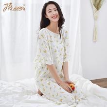 顶瓜瓜睡衣女夏季薄款棉质家居服 宽松可爱少女短袖睡裙中裙