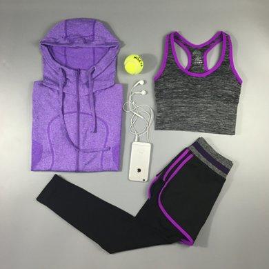 DAIYI戴奕运动套装  女款【三件套】运动健身?#30007;?#24125;?#20848;?#20004;件运动裤三合一