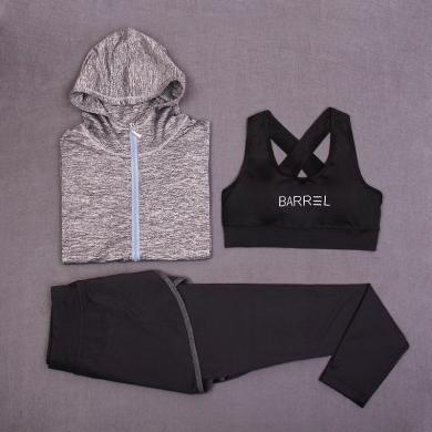 韩版瑜伽套装户外运动长袖服装瑜伽服秋冬三件套