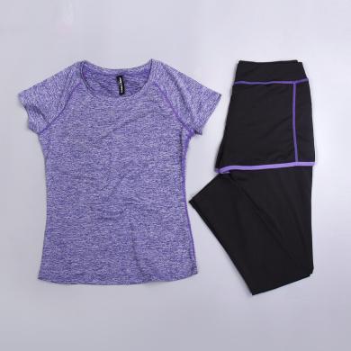 夏季新款舞蹈服运动户外跑步健身瑜珈服短袖瑜伽运动服