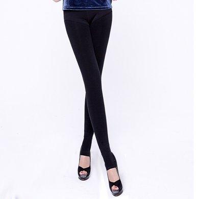尼特名 女士色拉姆美體高腰顯瘦顯高外穿式打底褲保暖褲女褲D1601