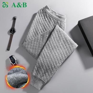 A&Bab内衣保暖裤男士棉裤精梳棉三层加厚中老年男秋裤(T865)