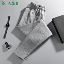 A&Bab内衣保暖裤男士棉裤加绒加厚护膝贴片中老年男秋裤(T793)