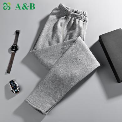 A&Bab內衣保暖褲男士棉褲加絨加厚護膝貼片中老年男秋褲(T793)
