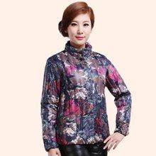 俞兆林中老年羽絨服內膽 女款 高領短款長袖 大碼媽媽女裝上衣 yzl 9811