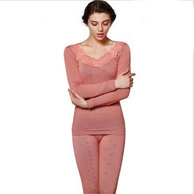 俞兆林新款雪花美體塑身內衣 女士蕾絲款加絨加厚 保暖內衣 YZL720150