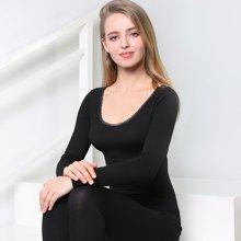 俞兆林秋冬新款女士玻璃紗美體內衣套裝 原宿風蕾絲保暖內衣 YZL720050-