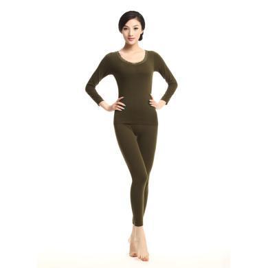 俞兆林 新品時尚波點塑身美體內衣 女士薄款保暖內衣 套裝 YZL720001-1810