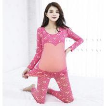 摩登?#26032;?秋冬季新款哺乳衣产后打底套装显瘦修身喂奶睡衣月子服孕妇保暖套装