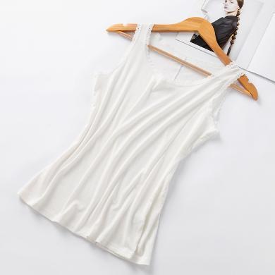 庫依娜 春季新款蕾絲背心女性感打底吊帶內衣百搭美背吊帶打底衫上衣 KYNB338