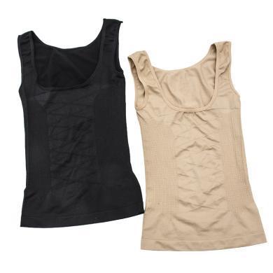 【兩件裝】修允菲新款U型領胸前交叉組織塑身衣無縫彈力收腰束身衣寶媽產后瘦身衣RSCN-21836