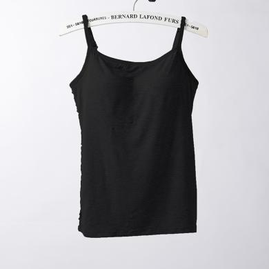 俞兆林夏新款女士長款一片式無痕文胸背心分體胸墊日系抹胸 吊帶背心 無痕吊帶背心 背心 吊帶Y607