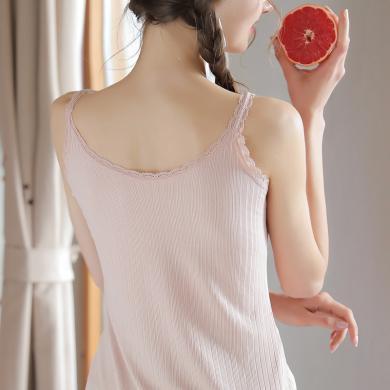 夏季新款 女士吊帶小背心瘦版修身V領吊帶背心外穿不透小吊帶打底衫女 KYNB339