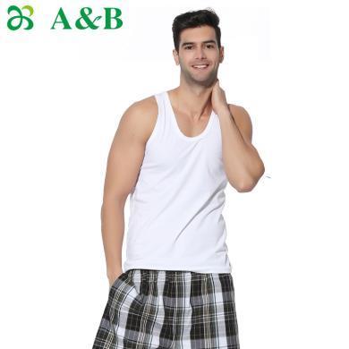 A&Bab內衣男士背心春夏彈力修身型緊身運動健身打底內衣(H923)