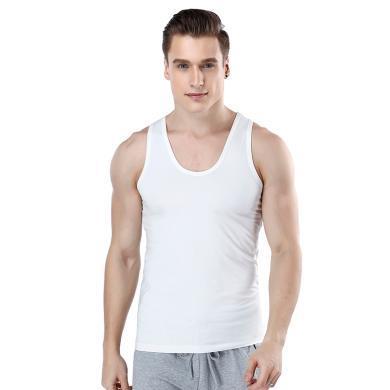 A&Bab内衣弹力?#21512;耐钙?#32039;身运动内衣打底男士基础背心(H345)