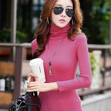 尼特名 韓版高領慵懶式時尚修身舒適內搭外穿長袖打底衫J9021