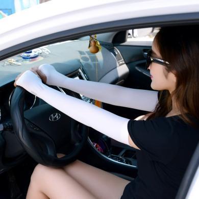 庫依娜冰袖女騎車開車防曬半指手套男戶外長款遮陽冰袖護腕 NZB194