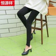 【單條裝】恒源祥女士九分褲踩腳型保暖褲加厚加絨無縫瘦腿一體褲RY1282297