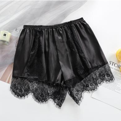 蕾丝睫毛款防走光安全裤瘦版女士三分打底裤宽松小短裤 KYNB370