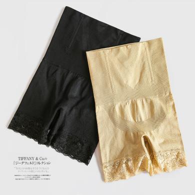修允菲2019新款高腰產后束縛蕾絲收腹束腰提臀塑身收胃束腹褲平角美腿褲NNZ9728