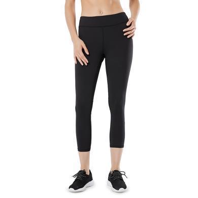 YVETTE薏凡特高彈力跑步健身運動褲女緊身透氣速干提臀瘦腿七分褲