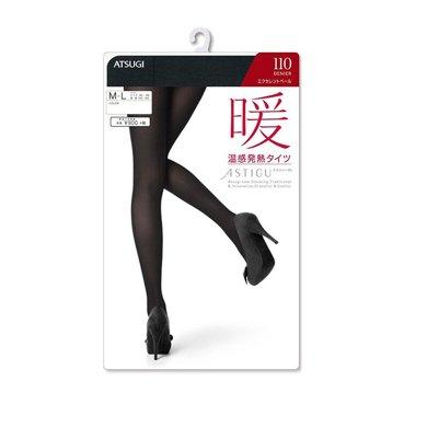 日本厚木ATSUGI TIGHTS?#20061;?#28201;感发热 110D M-L/连裤袜/?#23458;?袜子/打底裤(1双装)