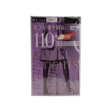 ?#38236;?#33267;6折】日本厚木ATSUGI TIGHTS保暖袜/连裤袜/?#23458;?袜子/打底裤110D M-L(两双/包)