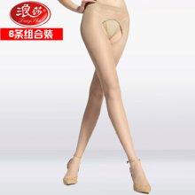 浪莎誘惑美腿絲襪性感開檔免脫懶人絲襪夏季薄防勾絲包芯絲連褲襪6雙裝PE605