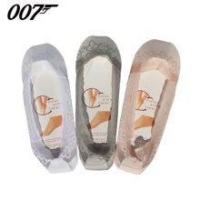 007丝袜女士隐形袜子蕾丝春夏季超薄浅口隐形硅胶防滑短丝袜3双装LS-A-3