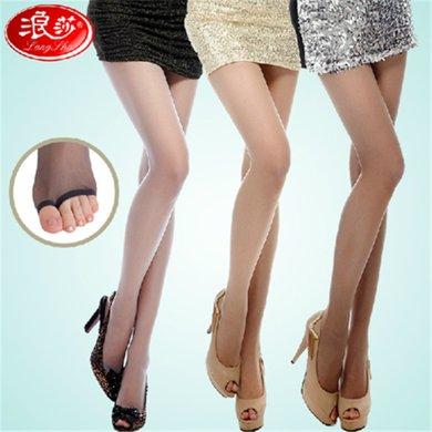 【4雙裝】浪莎絲襪魚嘴襪連褲襪露趾襪子超薄個性絲襪LS98743