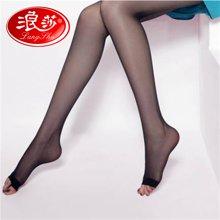 【4双装】浪莎丝袜鱼嘴袜连裤袜露趾袜子超薄个性丝袜LS98743
