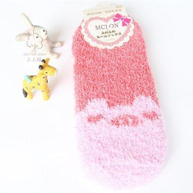 尼特名  女款時尚加厚珊瑚絨保暖襪舒適超柔秋冬女士襪子W0005/6