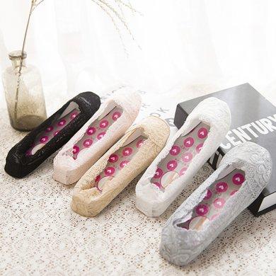 【5双装】DAIYI戴奕袜子 女款蕾丝硅胶防滑船袜