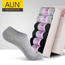 AUN船袜女 女士透气浅口 夏季运动纯色短袜棉袜休闲女袜抗菌防臭