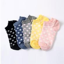 卡斯賓2019女純棉船襪春夏季 女士夏天透氣韓版圓點短襪春秋薄款棉襪