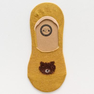 【10雙裝】修允菲2019夏季新款襪子女短襪淺口可愛船襪套純棉小熊隱形硅膠防滑襪子D09