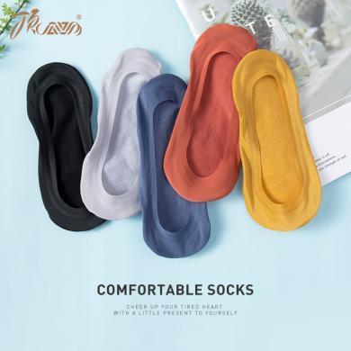 顶瓜瓜夏季薄款硅胶防滑纯色浅口袜子女短袜 纯棉低帮女士隐形袜