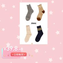 袜子夏季日系薄款堆堆袜4对装限量组合