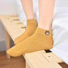 【五條裝】俞兆林 新款女士襪子純色小熊短襪 女襪 純色襪子 女士襪子 AK2059