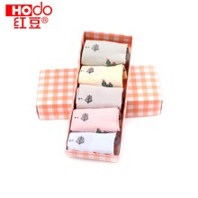 【五条装】Hodo/红豆儿童棉质短袜夏季春秋薄款袜子女童船袜 WD6002