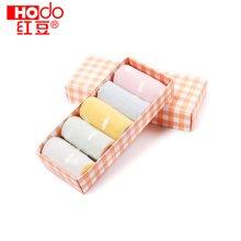 【五条装】Hodo/红豆儿童棉质短袜女童船袜 WD6006