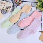 【五条装】俞兆林女士中筒袜隐形舒适透气时尚百搭 糖果色女士中筒棉袜AK2065AK2065