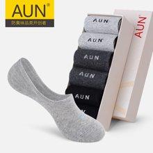 AUN防臭隐形袜船袜女士夏季透气棉质浅口女袜硅胶防滑短袜