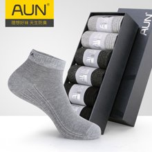 AUN防臭袜子男短袜棉质短筒袜夏季运动袜男士透气棉袜四季男袜子