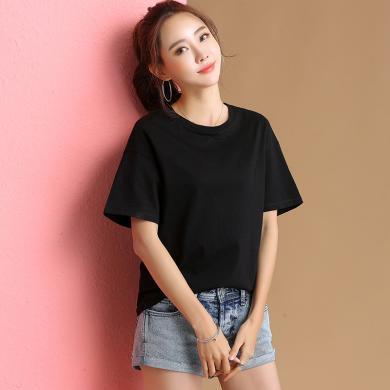 搭歌2019春夏季新款純棉純色T恤女韓版女裝t恤5005
