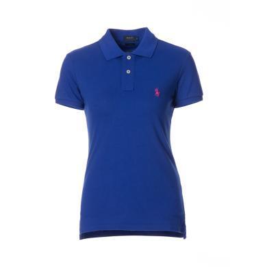 [支持購物卡]美國正品 POLO Ralph Lauren 拉夫勞倫女裝夏季短袖經典小馬標POLO衫天藍色